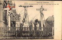 Xanten am Niederrhein, Kreuzigungsgruppe vor dem St. Victor Dom von 1553