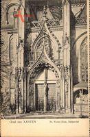 Xanten am Niederrhein, Blick auf den St. Victor Dom, Südportal, Fassade