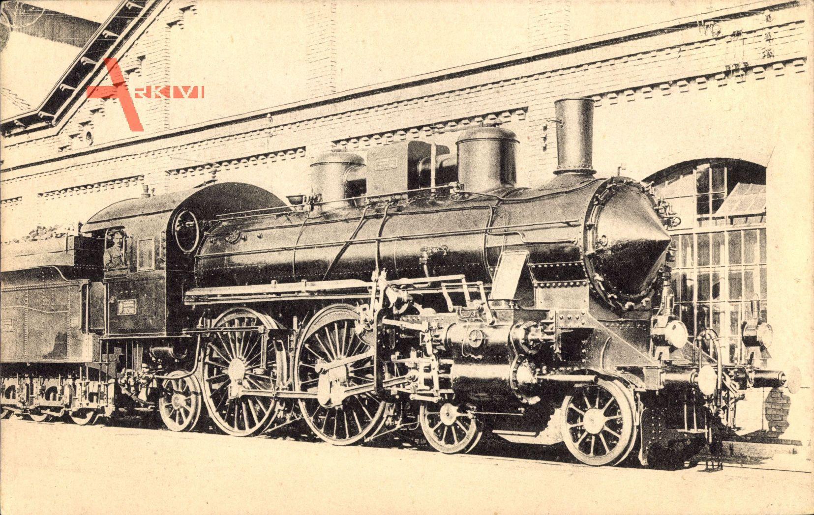 Ungarische Eisenbahn, Dampflokomotive, Chemin de fer Hongroise, MAV, Type 202