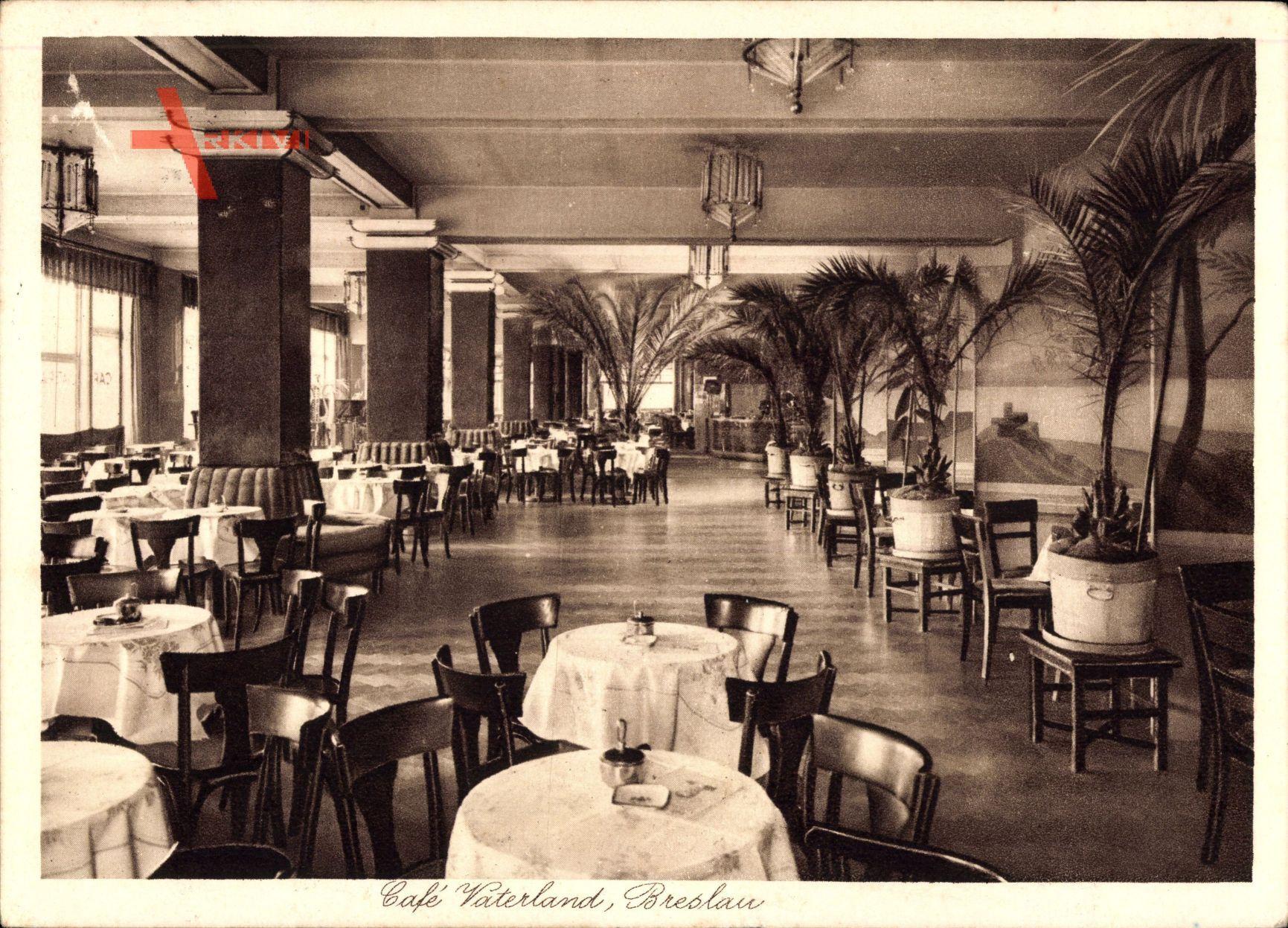 Wrocław Breslau Schlesien, Café Vaterland, Inh. Grundmann, Schweidnitzerstr 1