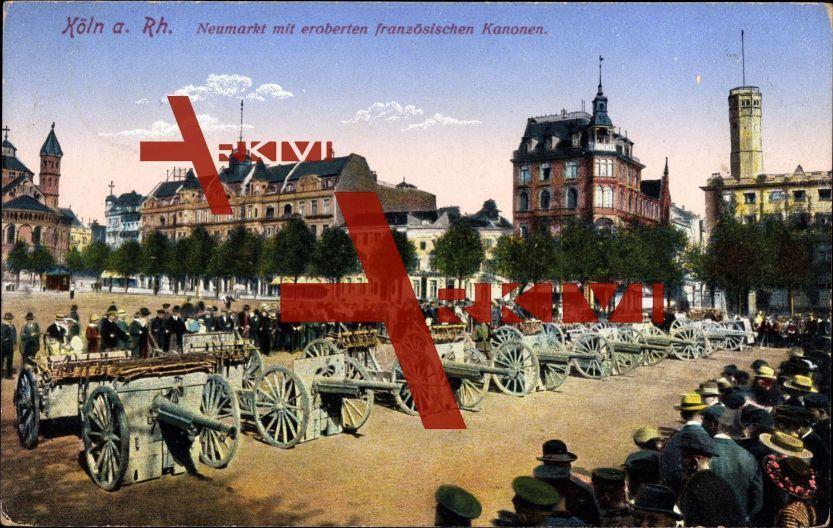 Köln, Neumarkt mit eroberten französischen Kanonen