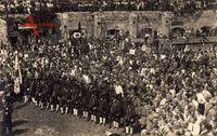 Kufstein Tirol Österreich, Pfingstfest 1925, Schützen, Egger Bräu