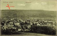 Lörrach, Panoramablick auf die Stadt im Herbst
