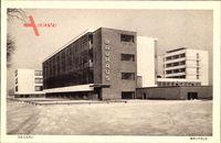 Dessau in Sachsen Anhalt, Bauhaus, Winter, Schnee