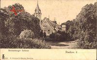 Itzehoe in Schleswig Holstein, Blick auf das Breitenburger Schloss, Giebel