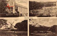 Norderney in Ostfriesland, Restaurant Napoleonschanze, Spielplatz, Windmühle