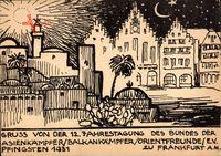 Frankfurt am Main, 12. Jahrestagung Orientfreunde, Balkan, Pfingsten 1931