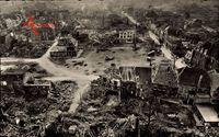 Xanten am Niederrhein, Zerstörte Häuser 1945, Kriegszerstörungen