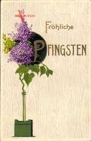 Glückwunsch Pfingsten, Lavendel, Topfblume