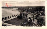 Berlin Reinickendorf Tegel, Neue Strandanlagen mit Hafenbrücke, Wald