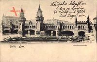 Berlin Kreuzberg, Blick auf die Oberbaumbrücke, Flusspartie, Boote