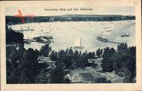 Berlin Zehlendorf Wannsee, Blick auf den Wannsee mit Segelbooten