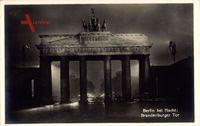 Berlin Mitte, Brandenburger Tor bei Nacht, Nachtbeleuchtung