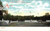 Berlin Mitte, Platz vor dem Brandenburger Tor, Kaiser Friedrich Denkmal