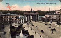 Berlin Mitte, Pariser Platz und Brandenburger Tor vom Hotel Adlon aus