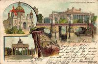 Berlin Mitte, Brandenburger Tor, Schlossbrücke, Museum, Neuer Dom