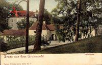 Berlin Wilmersdorf Grunewald, Blick auf das Jagdschloss im Grunewald