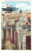 Zukunft New York City USA, Future of the City of Skyscrapers, Sirplanes