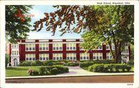Napoleon Ohio USA, View of the High School, street view, facade