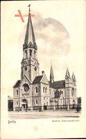 Berlin Neukölln, Blick auf katholische Garnisonkirche