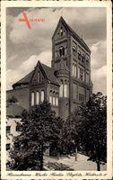 Berlin Steglitz, Blick auf die Rosenkranzkirche, Kielerstraße 11