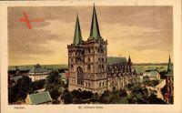 Xanten, Blick auf den St Viktors Dom mit Spitztürmen