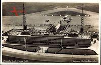 Berlin Tempelhof, Flughafen, Deutsche Luft Hansa AG, Fliegeraufnahme
