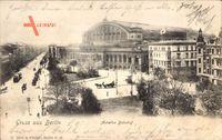 Berlin Kreuzberg, Blick auf den Anhalter Bahnhof mit Umgebung