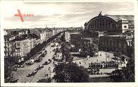 Berlin Kreuzberg, Königgrätzerstraße mit Anhalter Bahnhof, Straßenbahn