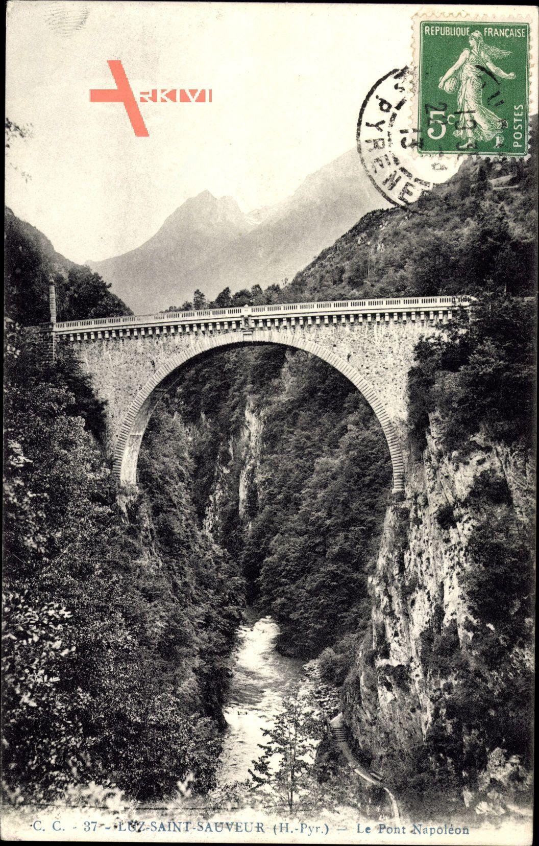 Luz Saint Sauveur Hautes Pyrénées, Le Pont Napoléon, Viadukt