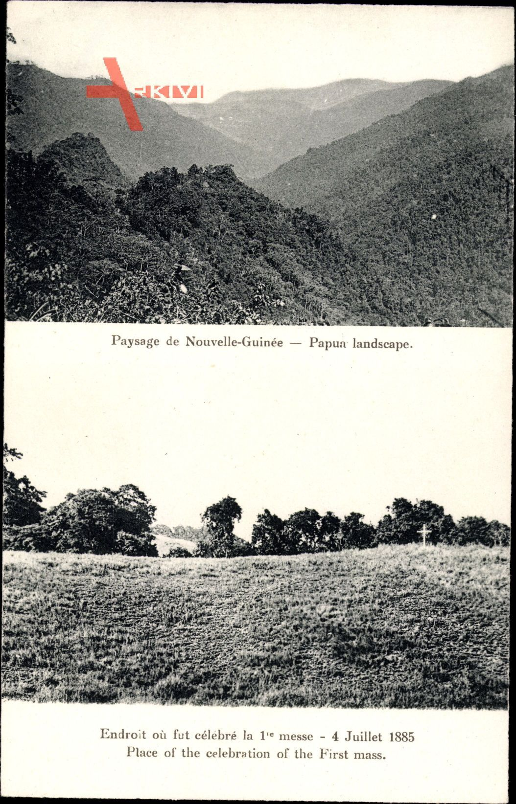 Papua Neuguinea, Endroit oè fut célébré la 1re messe, 4 Juillet 1885