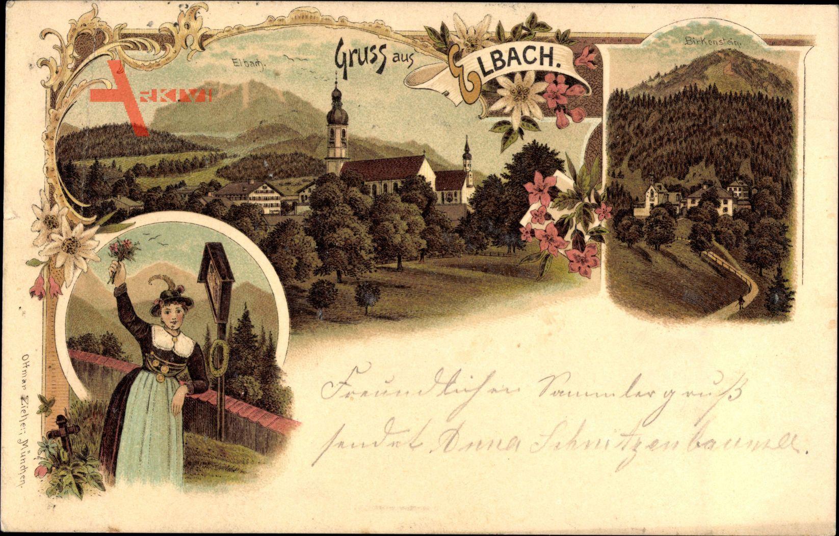 Elbach Fischbachau im Tal der Leitzach Oberbayern, Kirche, Tracht, Zieher