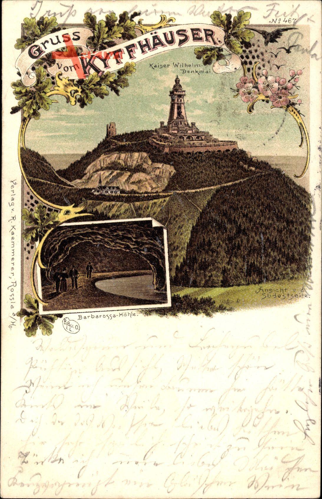 Kyffhäuserland in Thüringen, Barbarossa Höhle, Kaiser Wilhelm Denkmal