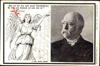 Passepartout Fürst Otto von Bismarck, gest. 30 Juli 1898, Engel