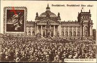 Berlin Mitte, Reichstagsgebäude, Bismarckdenkmal, Einweihung 1901