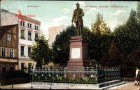 Berlin Spandau, Blick auf das Denkmal von Kaiser Friedrich III, Umzäunung