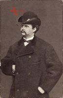 König Ludwig II. von Bayern, Portrait, Mantel, Melonenhut
