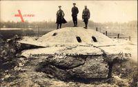 Panzerturm bei Fort Waelhom, Belgien, Weltkrieg 1914