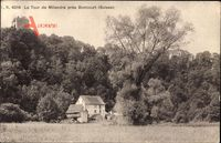 Milandre Boncourt Kanton Jura, La Tour, Hausansicht mit Turmspitze