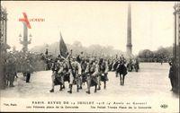 Paris, Revue du 14 Juillet 1918, les Polonais place de la Concorde