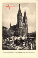 Vyšehrad Praha Prag, Kapitulni chram sv. Petra a Pavla, Kirche, Friedhof