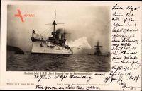 S.M.S. Fürst Bismarck, Deutsches Kriegsschiff, Ausreise nach China