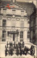 Verdun Meuse, Cour de la Mairie, Canons du Siège de 1870