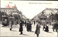 Berlin Schöneberg, Wittenbergplatz mit Ubahneingang, Straßenbahn