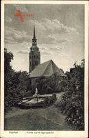 Itzehoe in Schleswig Holstein, Kirche und Kriegerdenkmal