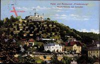 Niederlößnitz Radebeul im Kreis Meißen, Hotel und Restaurant Friedensburg