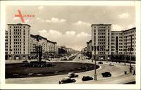 Berlin Friedrichshain, Stalinallee am Strausberger Platz, Karls Marx Allee
