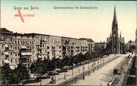 Berlin Kreuzberg, Gneisenaustraße mit Garnisonkirche