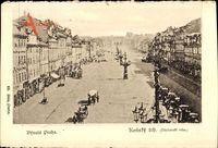 Praha Prag, Konsky Trh, Vaclavske Nameste, Stadt Einst