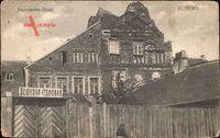 Kaunas Kowno Kauen Litauen, Napoleons Haus in Ruinen